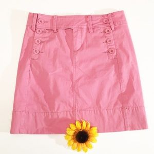 Pink Anthropologie Paper Boy button mini skirt 2